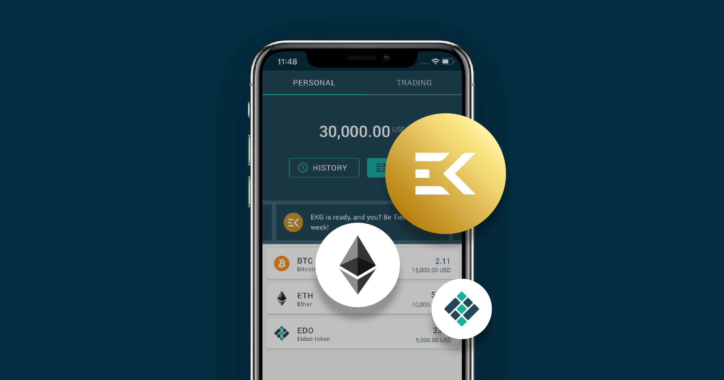 The first Ekon Gold has been minted. Get EKG on the app!