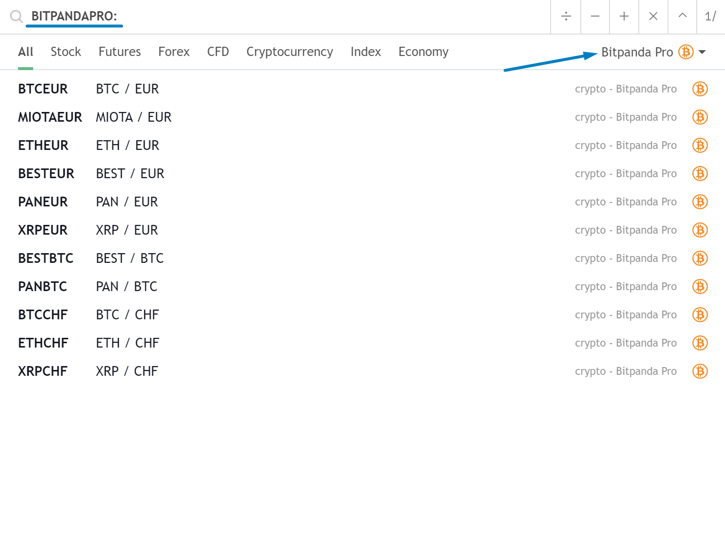 bitpanda pro tradingview