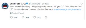 litecoin charlie lee twitter