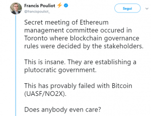 Francis Pouliot attacca Ethereum