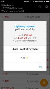 Bitcoin Lightning wallet