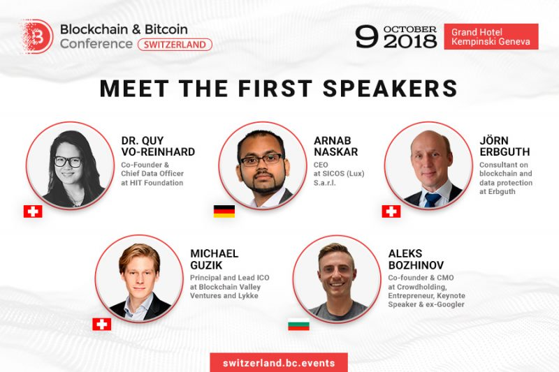 Blockchain & Bitcoin Conference Switzerland, rivelati gli speaker