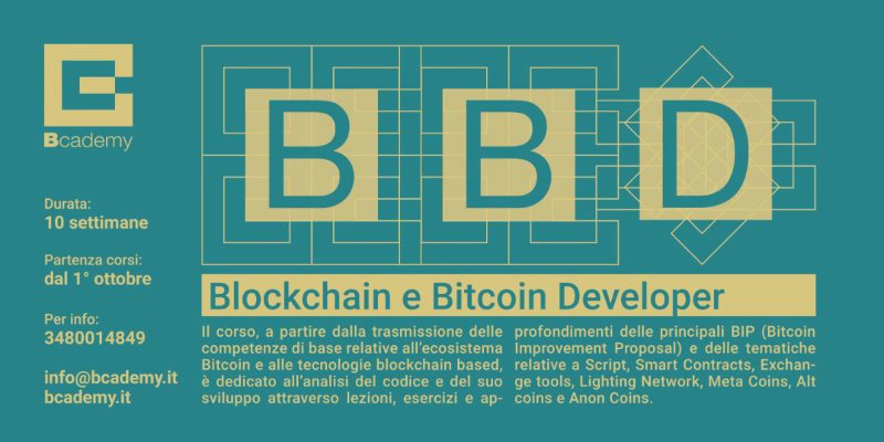 Come diventare developer blockchain