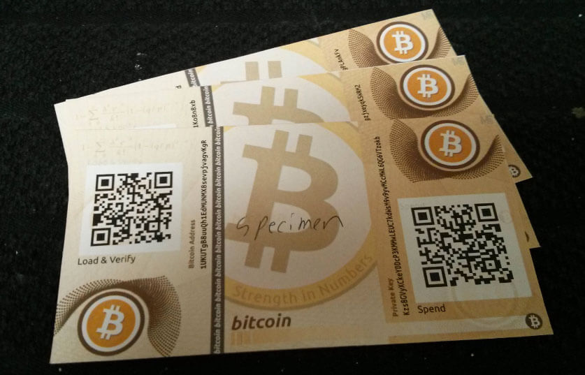how does a bitcoin paper wallet work