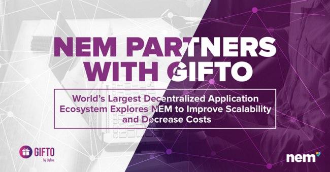 NEM DApp, una collaborazione con Gifto per migliorare la tecnologia