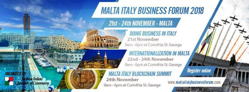 A Malta, l'Italy Blockchain Summit