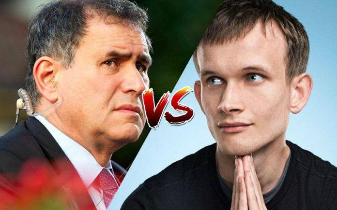 Nouriel Roubini vs Vitalik Buterin, volano accuse pesanti