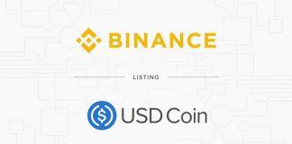 Binance lista USD Coin (USDC)