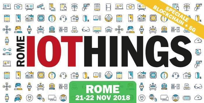 IoThings Rome, pochi giorni all'evento su IoT e Blockchain