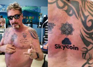 McAfee tatuaggio SkyCoin