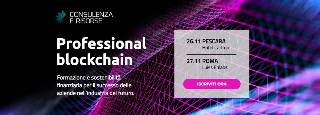 Arriva Professional Blockchain, il workshop dedicato ai professionisti della Blockchain