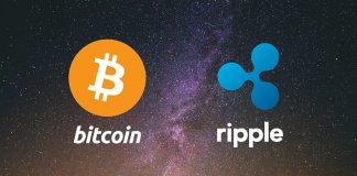 Ripple XRP più usato di bitcoin BTC