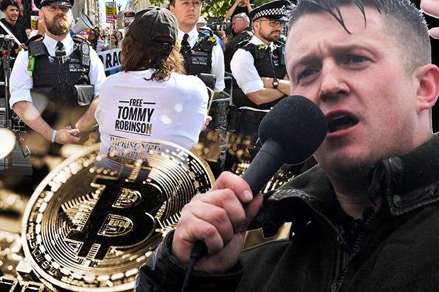 Tommy Robinson, dopo il ban di PayPal accetta donazioni in Bitcoin