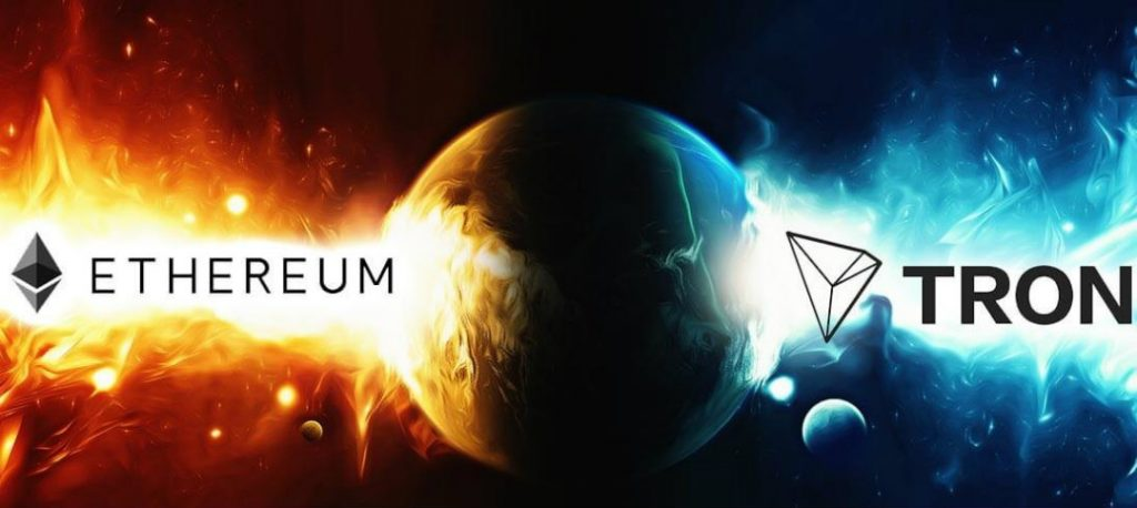 dapp tron blockchain ethereum