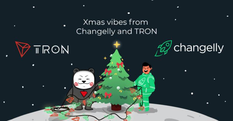 Tron e Changelly: parte oggi la promo Merry Cryptmas