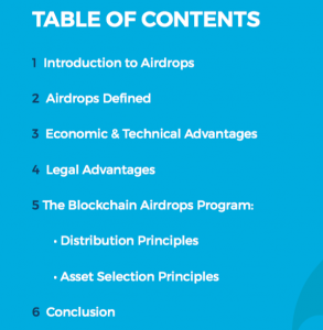 blockchain airdrops program