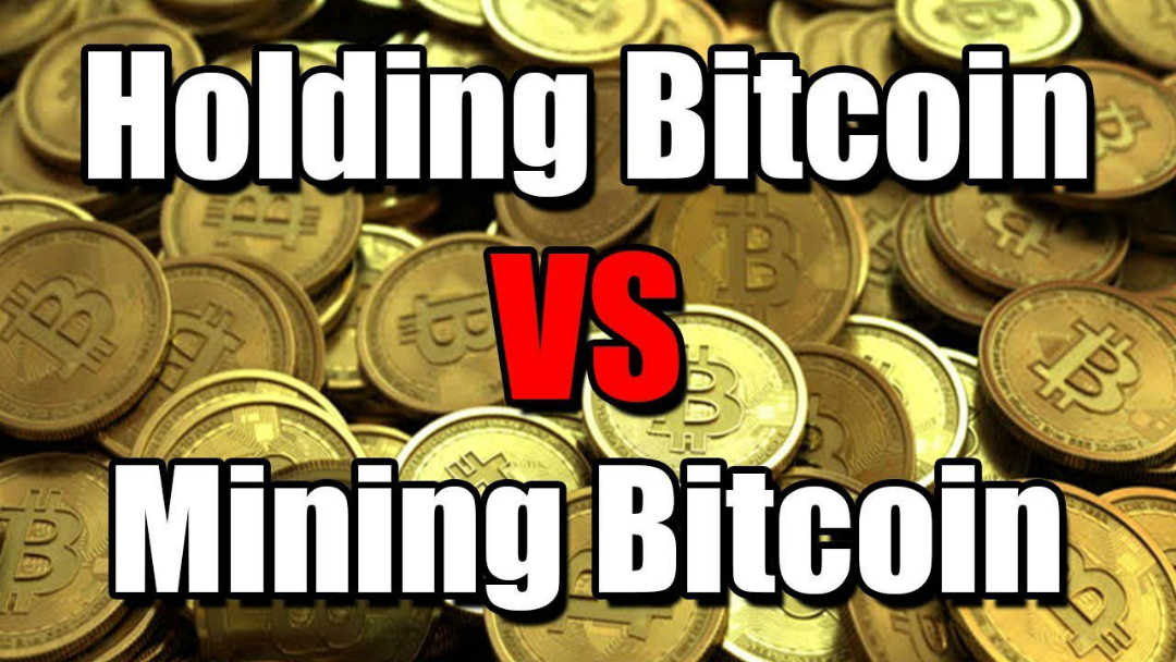 Bitcoin: holding vs. mining. Chi vince?