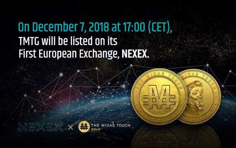 Nexex, il token coreano TMTG listato sull'exchange europeo