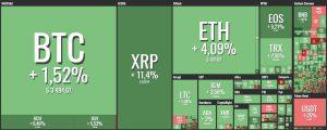 ripple xrp price rises