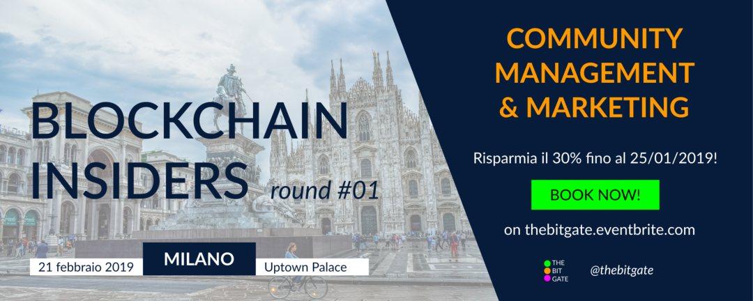 Blockchain Insiders: l'evento per formare i nuovi professionisti blockchain