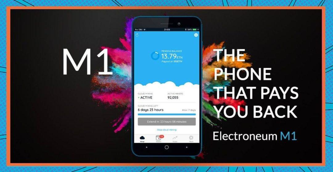 Electroneum lancia uno smartphone per il mining