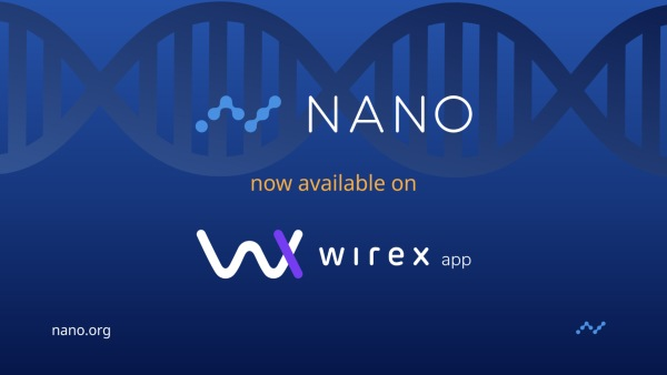Wirex adds crypto Nano