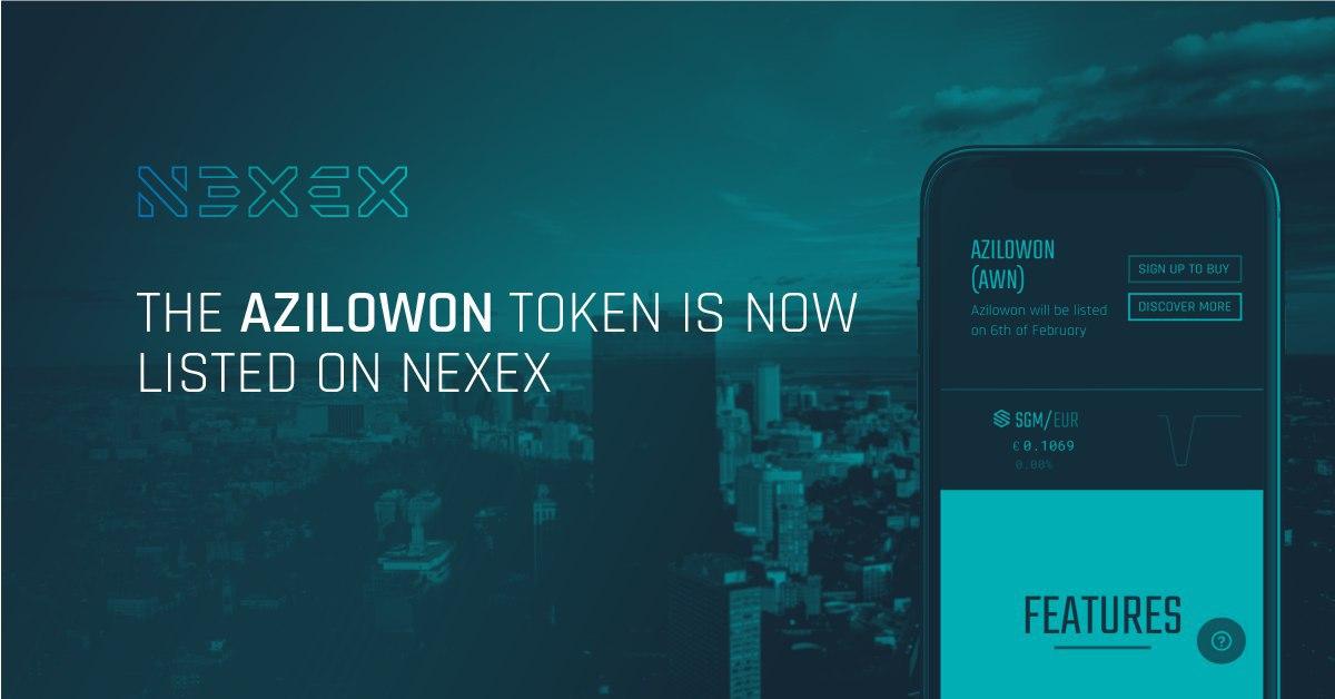 L'exchange Nexex lista Azilowon
