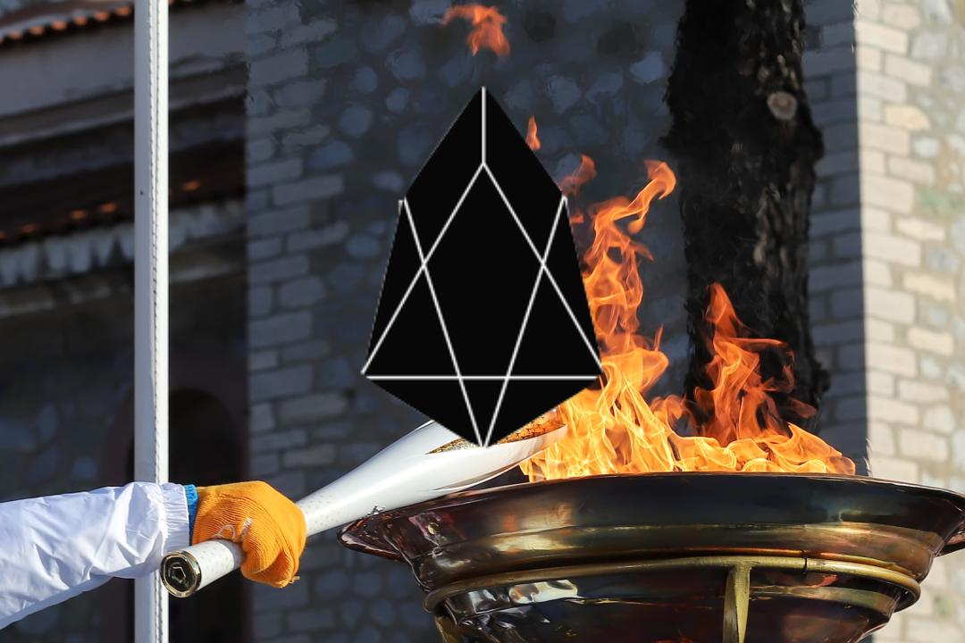 Brock Pierce prende la EOS Torch