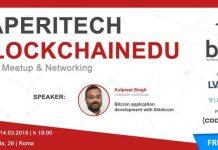 Aperitech Roma meetup bitcoin