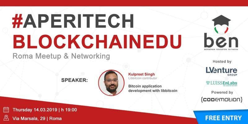 Aperitech: a Roma un nuovo meetup bitcoin