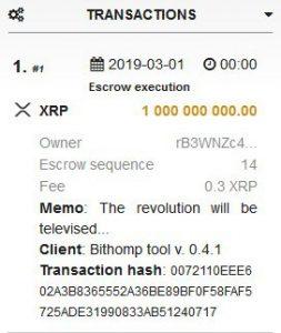 transaction ripple xrp