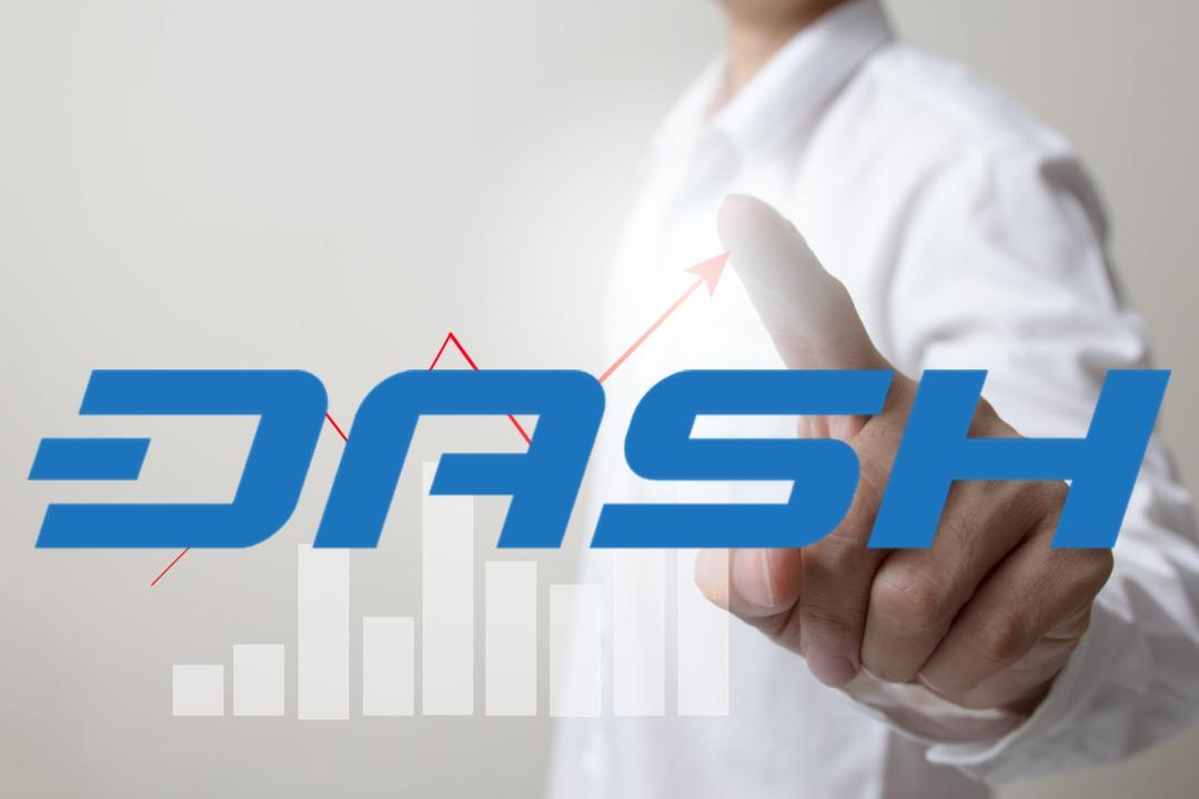 Dash: il prezzo della crypto sale del 5%