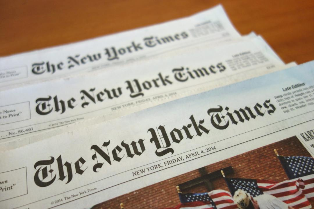 Il New York Times testa la pubblicazione su blockchain