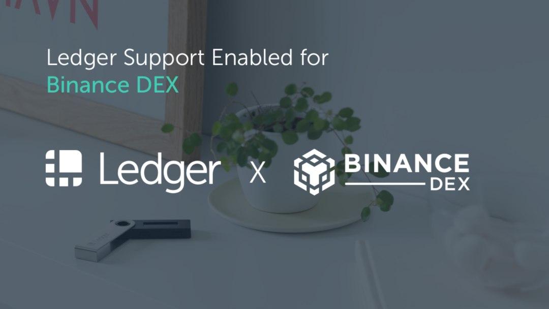 Ledger Nano S supporta Binance DEX