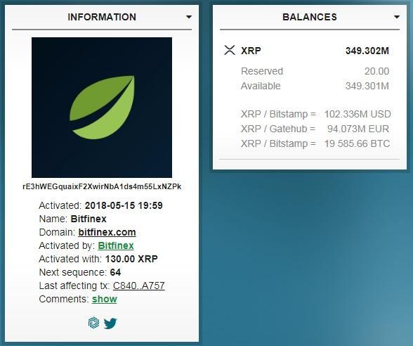 ripple transaction bitfinex