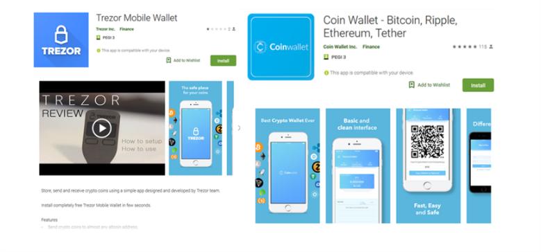 trezor app scam playstore google