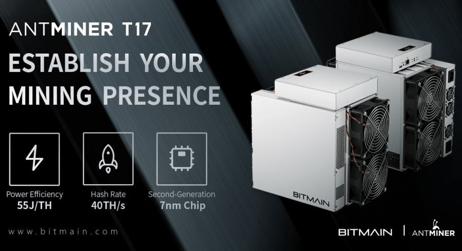 ASIC bitcoin a 7nm Bitmain Antminer S17, Antminer T17, Antminer S17 Pro