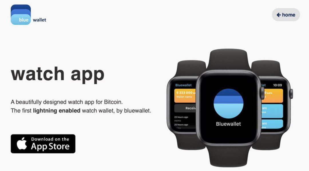 Bluewallet Bitcoin Apple Watch