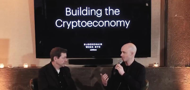 blockchain week brian armstrong coinbase