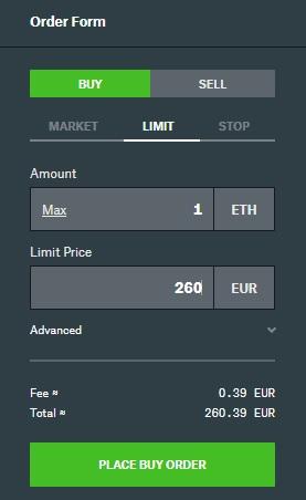 ordine comprare criptovalute coinbase pro