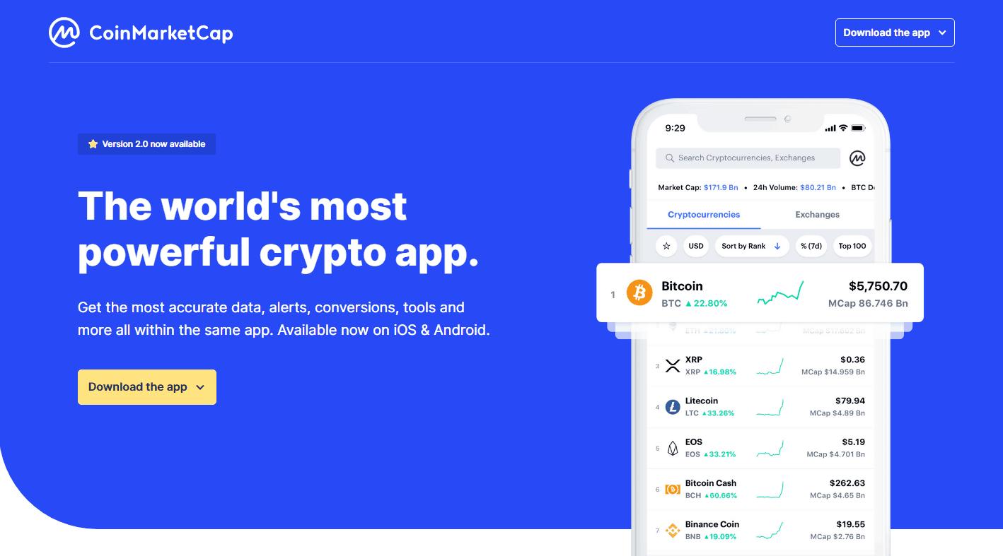 Coinmarketcap: la app con le news di Cryptonomist