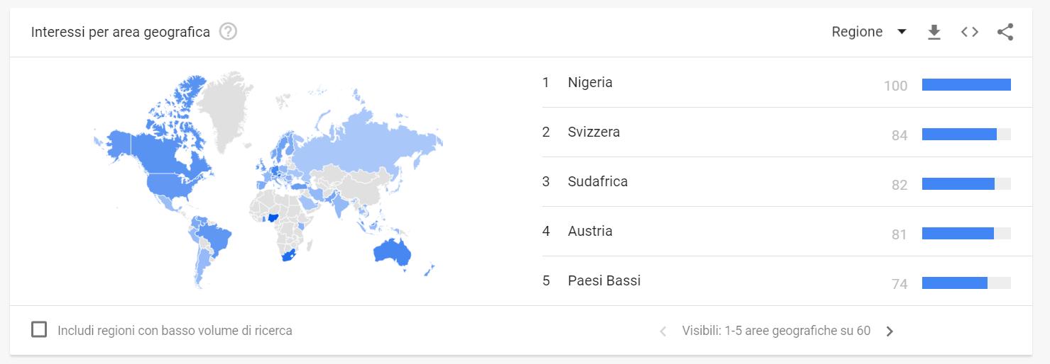 Google Trends crescita ricerche bitcoin