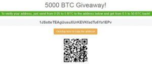 5000 bitcoin giveaway