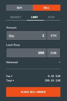 ordine vendere criptovalute coinbase pro