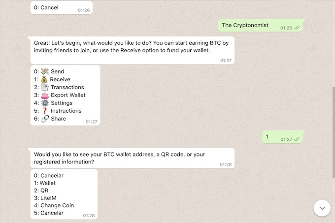 Now you can send and receive cryptocurrencies with WhatsApp