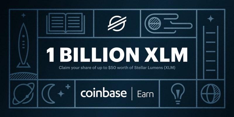 stellar lumens xlm coinbase earn