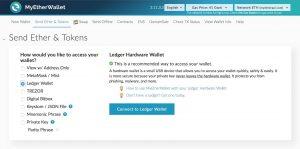 MyEtherWallet wallet ledger nano criptovalute