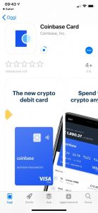 Coinbase Card account criptovalute