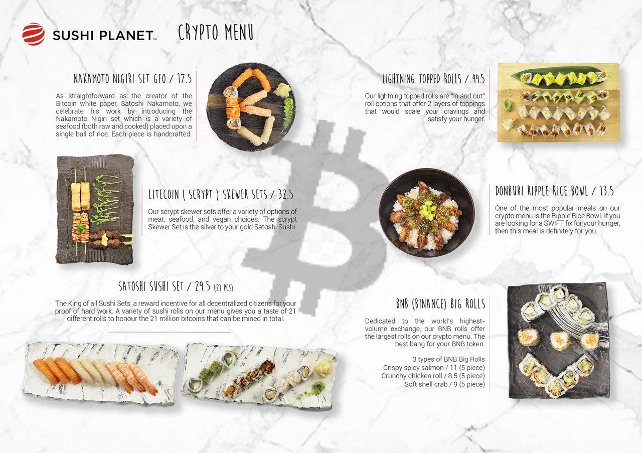 Australia: il crypto menu con i Nakamoto Nigiri