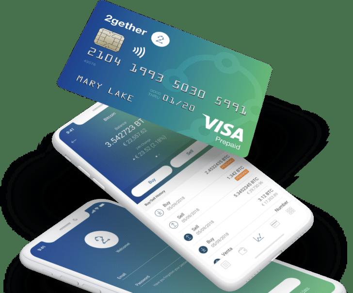 2Gether: carta di debito Visa per pagare con 7 criptovalute